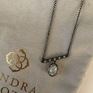 Kendra Scott Opal & Gunmetal Necklace